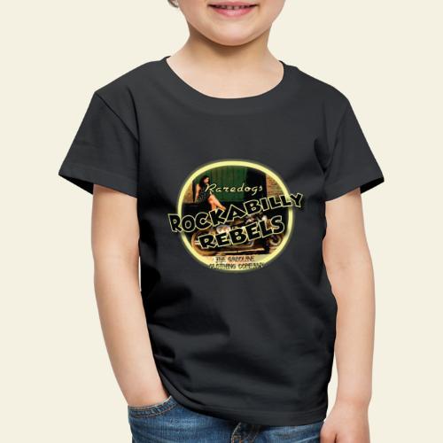 rockabilly rebels pinup - Børne premium T-shirt