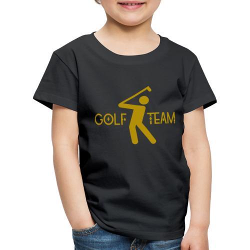 Golfer Team Sport Hobby Golfspielerin Golfball - Kinder Premium T-Shirt