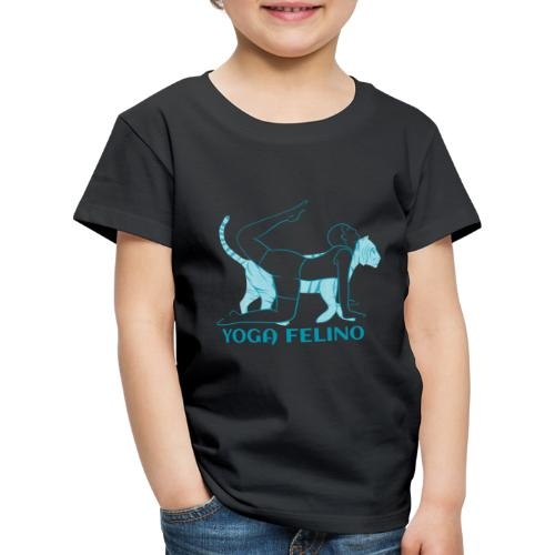 t shirt design YOGA FELINO - Maglietta Premium per bambini