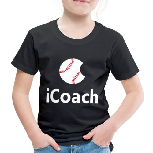 Baseball Logo iCoach - Kids' Premium T-Shirt