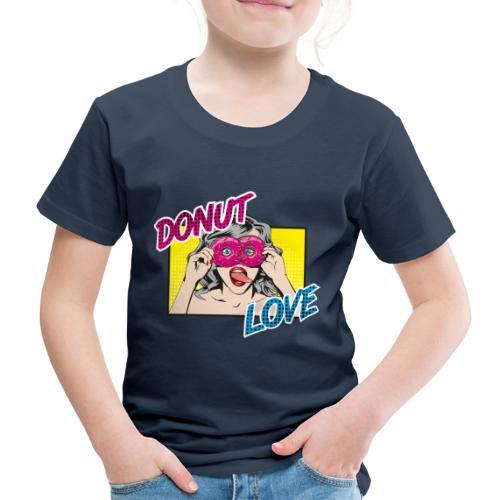 Popart - Donut Love - Zunge - Süßigkeit - Kinder Premium T-Shirt