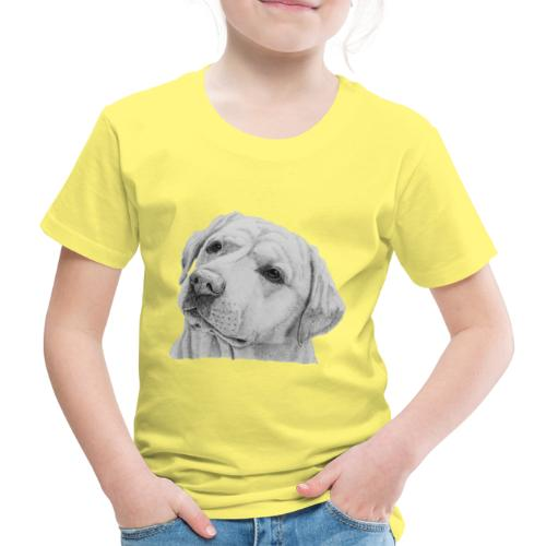 labrador retriever yellow - head - Børne premium T-shirt