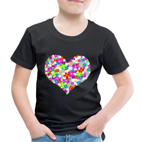 Blumenherz - Kinder Premium T-Shirt