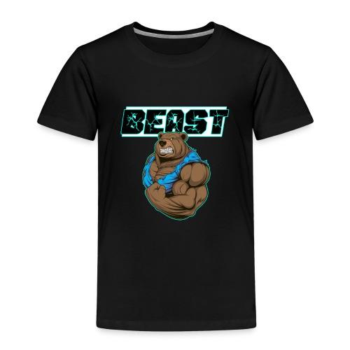 Beast Bär Fitness Training Body building Geschenk - Kinder Premium T-Shirt