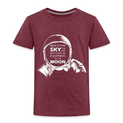 Astronaut - Footprints on the Moon - Kinder Premium T-Shirt