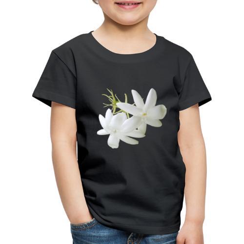 Jasmin weiss Blüte Strauch Duft Pflanze - Kinder Premium T-Shirt