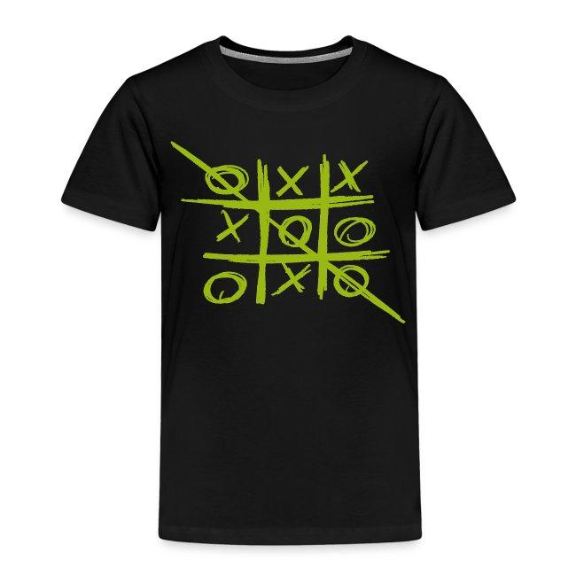 Tic-Tac-Toe Tris game - green