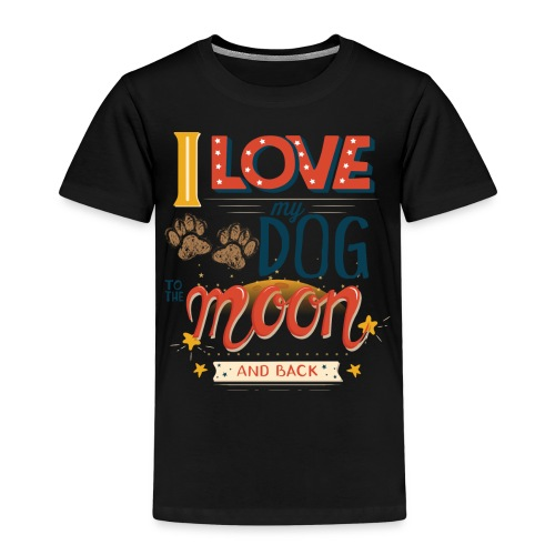 Moon Dog Light - Premium-T-shirt barn