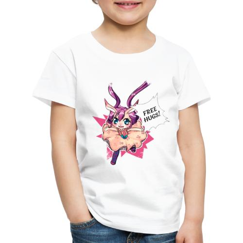 Free hugs (white lines) - Kids' Premium T-Shirt