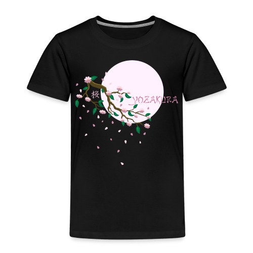 Cherry Blossom Festval Full Moon 1 - Kinder Premium T-Shirt