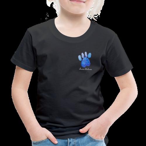 Tierfreund Choose Kindness Hundepfote Wasserfarben - Kinder Premium T-Shirt