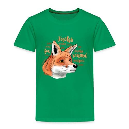 Fuchsportrait mit Lettering - Kinder Premium T-Shirt