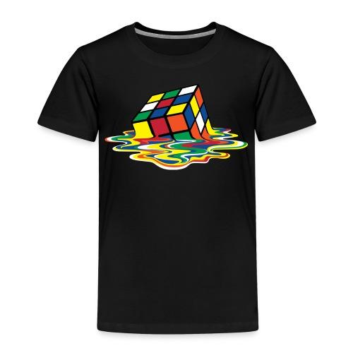 Rubik's Cube Melted Colourful Puddle - Børne premium T-shirt