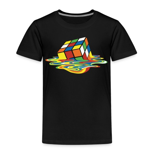 Rubik's Cube Melted Colourful Puddle - Premium T-skjorte for barn