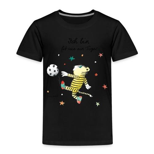 Janosch Fit Wie Der Kleine Tiger Fußball - Kinder Premium T-Shirt