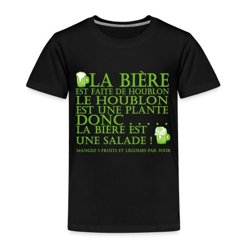 la bière est ... une salade ! - T-shirt Premium Enfant