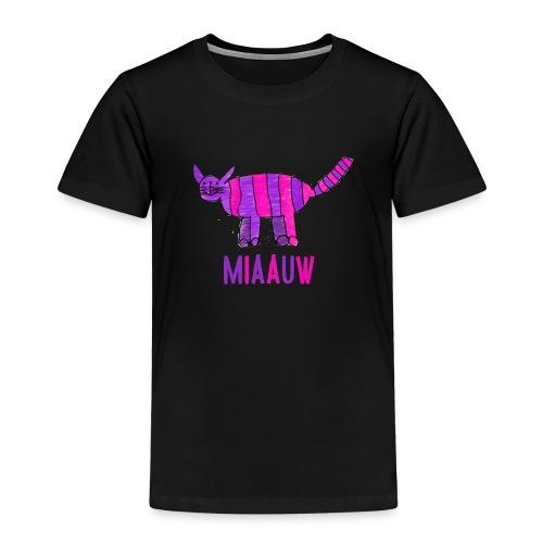 miaauw, paarse poes - Kinderen Premium T-shirt