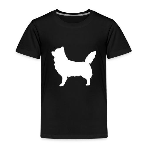 Chihuahua pitkakarva valkoinen - Lasten premium t-paita