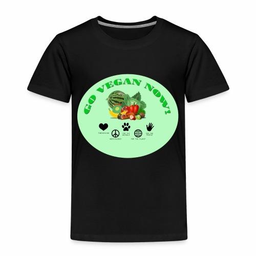 GO VEGAN NOW! - Kinder Premium T-Shirt