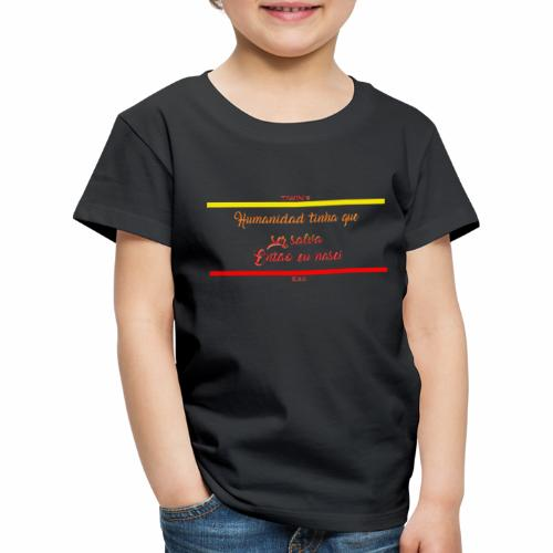 humanidad tinha salva texte jaune - T-shirt Premium Enfant