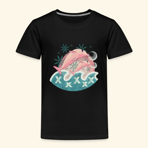Dauphins rose - T-shirt Premium Enfant