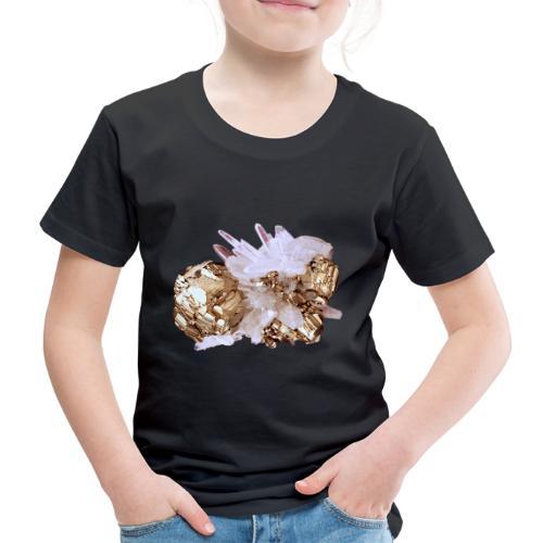 Pyrit Quarz Mineral Kristall Katzengold - Kinder Premium T-Shirt