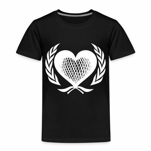 Herz Kranz Gitter Netz Logo Emblem Geschenkidee - Kinder Premium T-Shirt