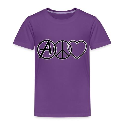 ANARCHY PEACE & LOVE - Kids' Premium T-Shirt