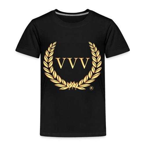 Black & Gold Team VVV (Small Logo) - Kids' Premium T-Shirt