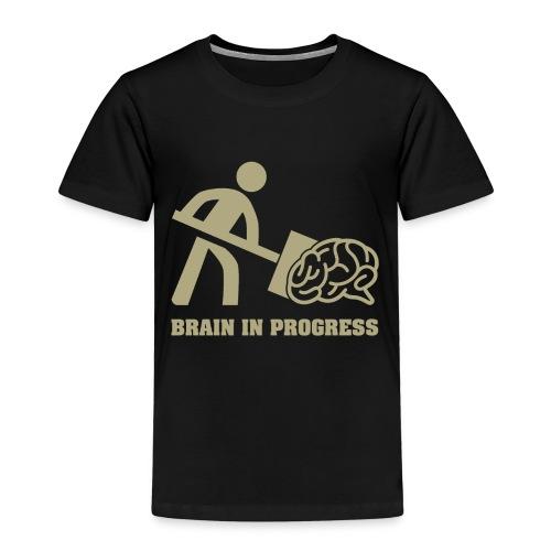 Brain in progress en or - T-shirt Premium Enfant