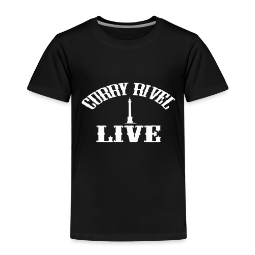 CURRY RIVEL LIVE LOGO WHITE - Kids' Premium T-Shirt