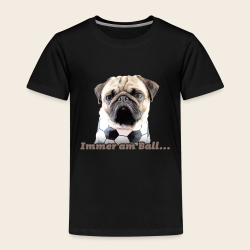 Mops am Ball 2 - Kinder Premium T-Shirt