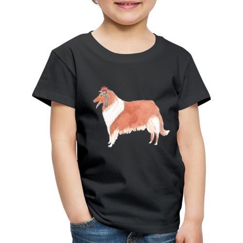 collie with flower - Børne premium T-shirt