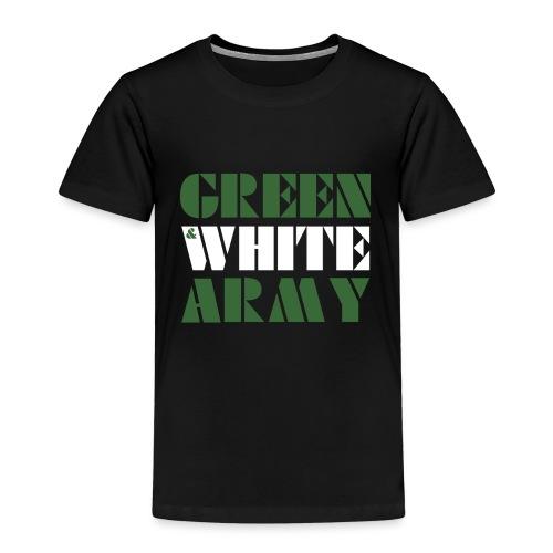 GREEN & WHITE ARMY _STENCIL_3 - Kids' Premium T-Shirt