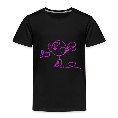 Skating Robin Pink - Maglietta Premium per bambini