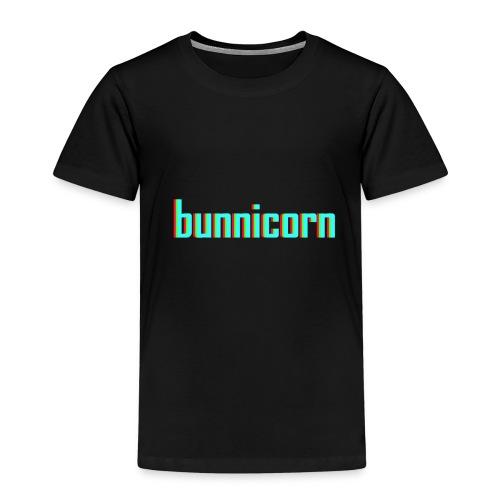 Triple colour Bunnicorn embroidery - Kids' Premium T-Shirt