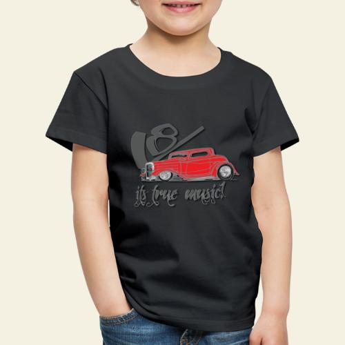 v8 true music - Børne premium T-shirt