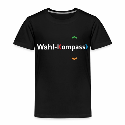 Wahl-Kompass Logo weiß - Kinder Premium T-Shirt