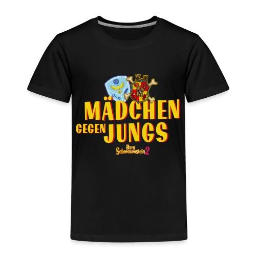 Mädchen gegen Jungs - Kinder Premium T-Shirt