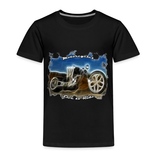 Motorcycle biker woman - T-shirt Premium Enfant
