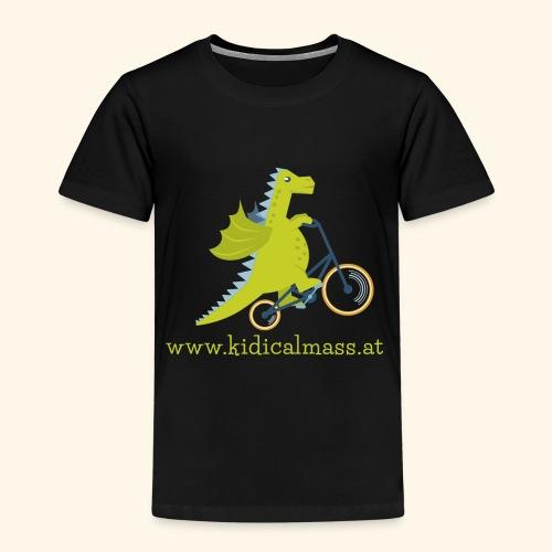 Musikdrache für dunklen Hintergrund - Kinder Premium T-Shirt