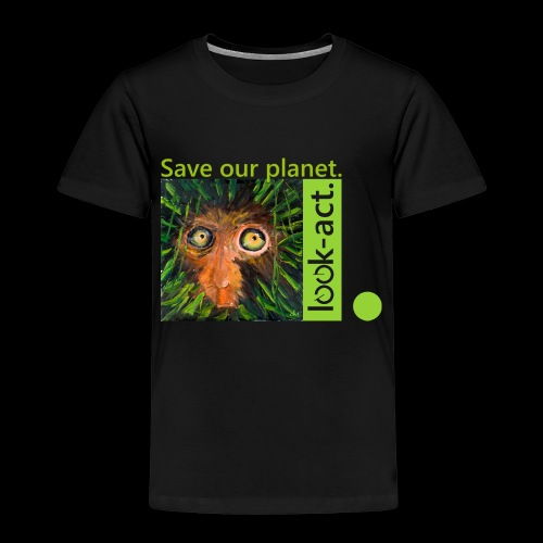 Save our planet. Affe im Regenwald - Kinder Premium T-Shirt