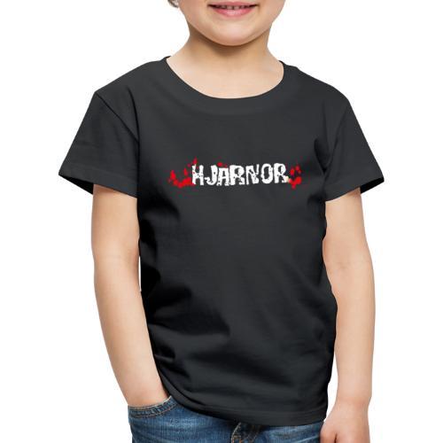 Hjärnor logo vit - Premium-T-shirt barn