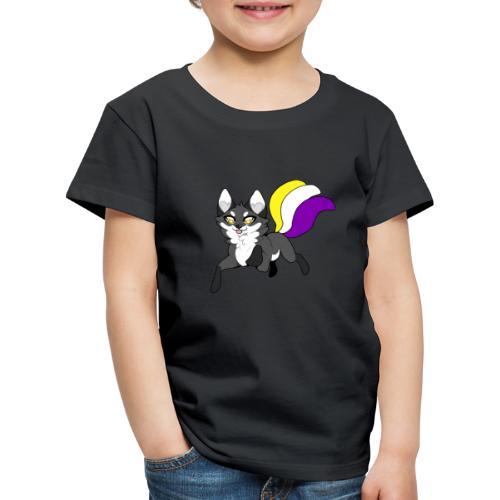 Nonbinary kitsune - Lasten premium t-paita