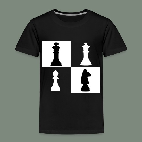 lustiges Schach Motiv Königin König Pferd Geschenk - Kinder Premium T-Shirt
