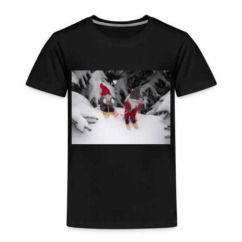 Joulutontut kilpasilla - Lasten premium t-paita