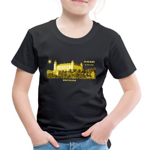 Summer Bratislava City Slowakei Burg Donau Sommer - Kinder Premium T-Shirt