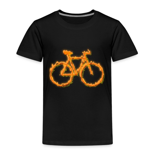Fahrrad in Flammen - Kinder Premium T-Shirt