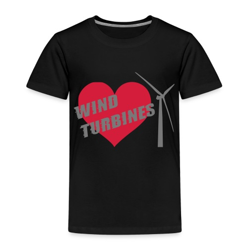 wind turbine grey - Kids' Premium T-Shirt
