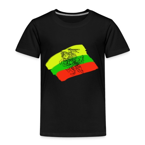 Lithuanian flag with rider - Kids' Premium T-Shirt
